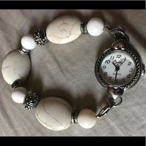 Accessories - Silver and Stone Watch